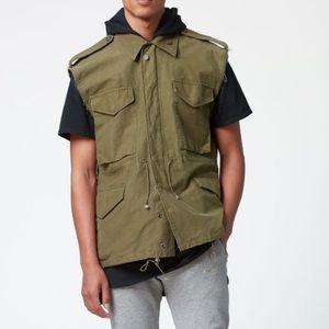 Fear of God cutoff vest.